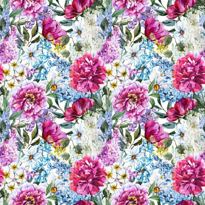 Estampado de flores de la acuarela libre illustration