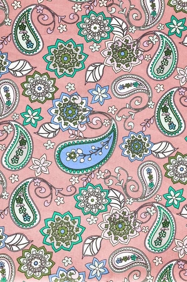 Estampado de flores de la tela de la textura del fondo imagen de archivo