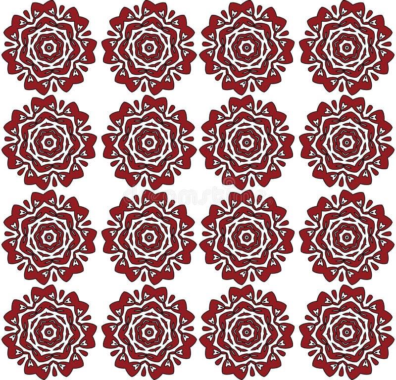 Estampado de flores de las rosas rojas stock de ilustración