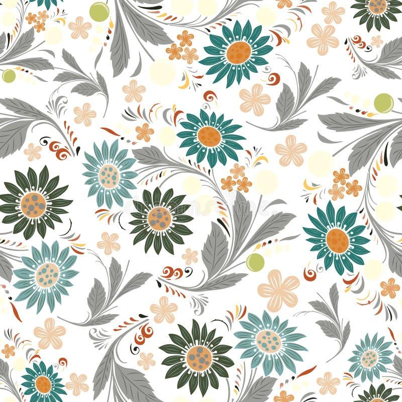 Estampado de flores de repetición inconsútil Vector libre illustration