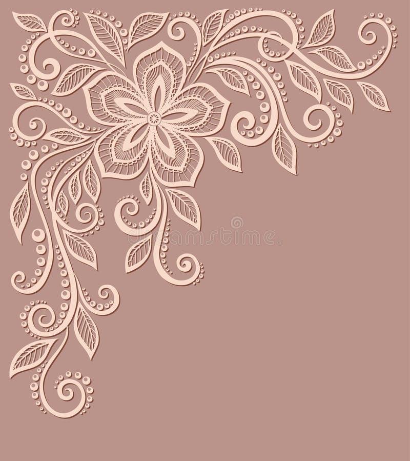 Estampado de flores hermoso, un elemento del diseño en  stock de ilustración