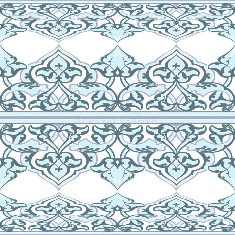 Estampado de flores inconsútil adornado del vector en estilo del este stock de ilustración