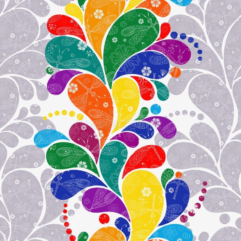 Estampado de flores incons?til con Paisley colorida libre illustration