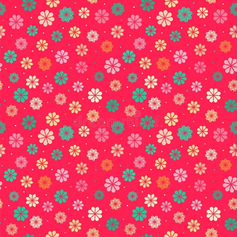 Estampado de flores inconsútil del niño ilustración del vector