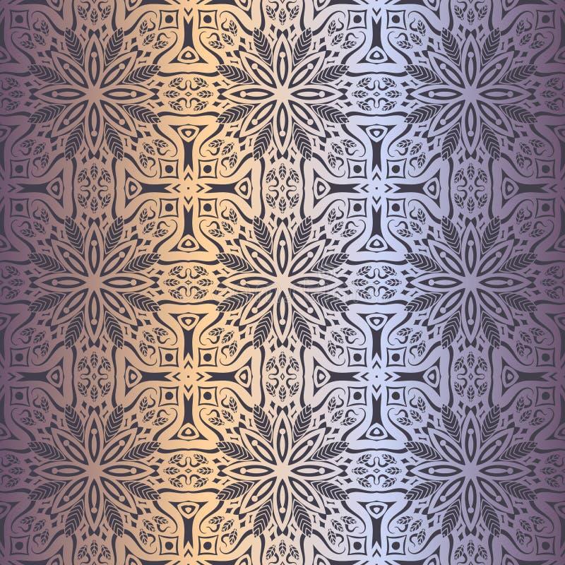 Estampado de flores inconsútil del papel pintado real, fondo de lujo libre illustration