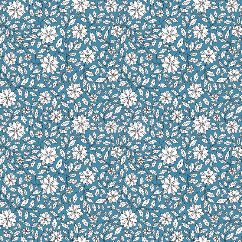 Estampado de flores inconsútil del vector con las plantas coloridas de la fantasía y stock de ilustración