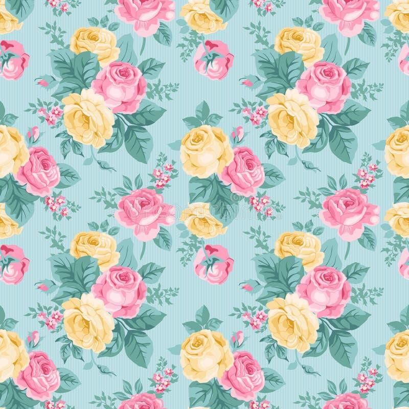 Estampado de flores inconsútil del vintage del vector. libre illustration