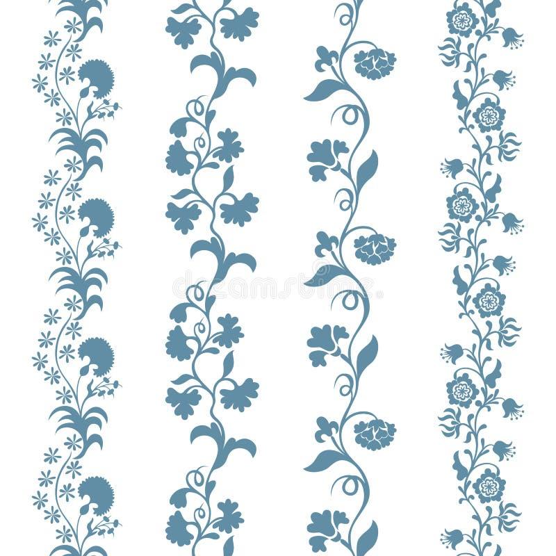 Estampado de flores inconsútil determinado de los ajustes libre illustration