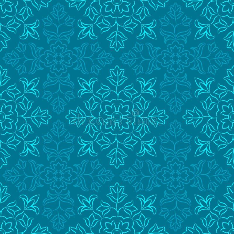 Estampado de flores indio ilustración del vector