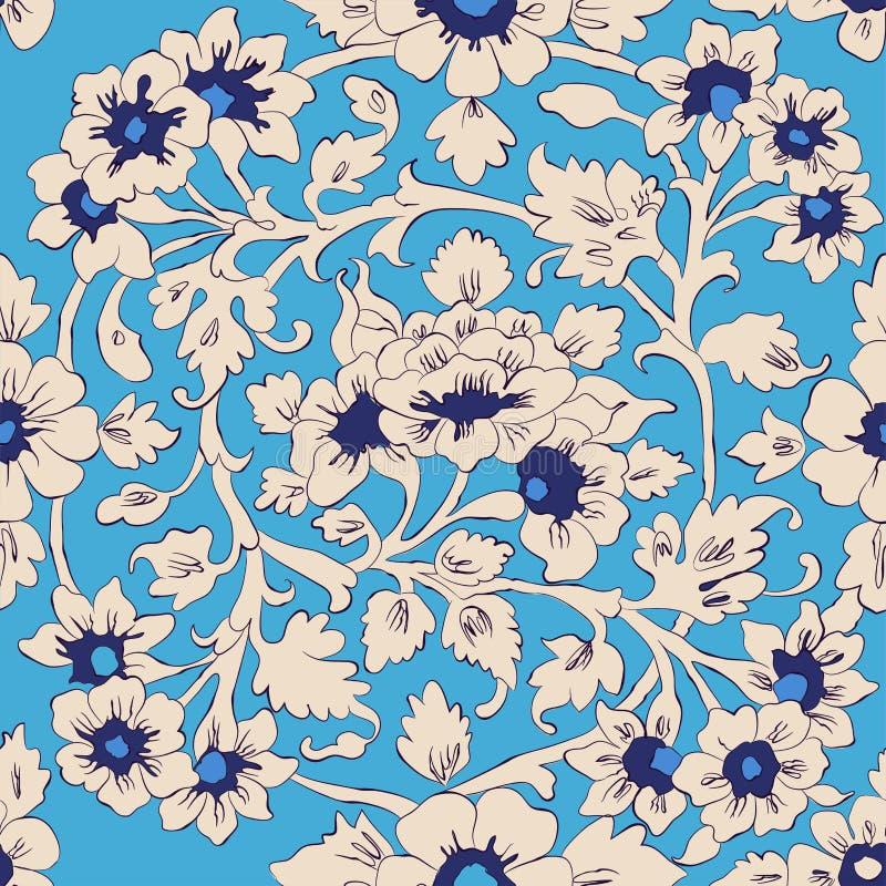 Estampado de flores islámico clásico stock de ilustración