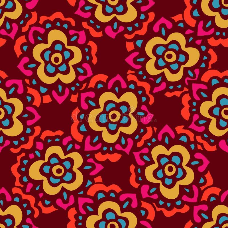 Estampado de flores lindo inconsútil del vector del garabato ilustración del vector