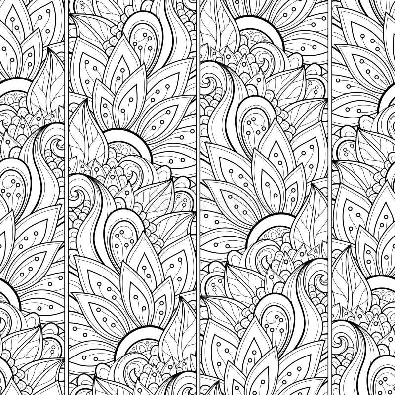 Estampado de flores monocromático inconsútil (vector) libre illustration