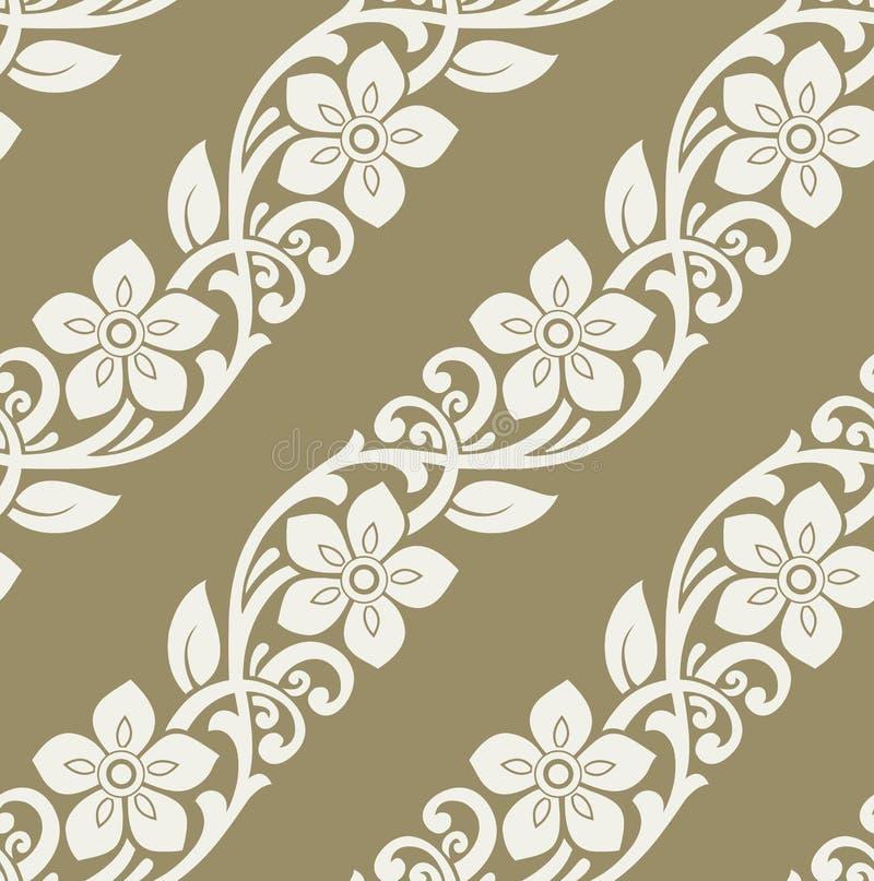 Estampado de flores de oro inconsútil del vector stock de ilustración