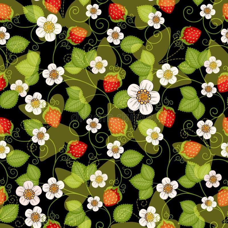Estampado de flores inconsútil de la primavera stock de ilustración