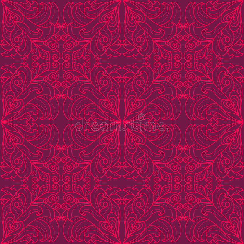 Estampado de flores púrpura. stock de ilustración