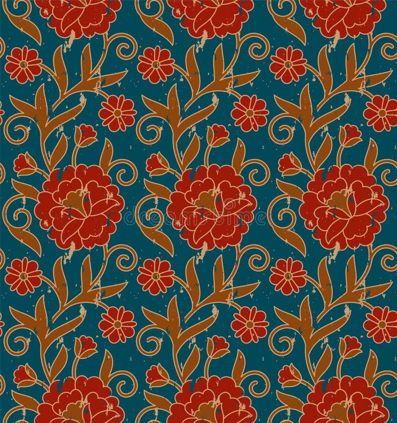 Estampado de flores real del vintage incons?til del vector plantilla incons?til en el panel de la muestra libre illustration