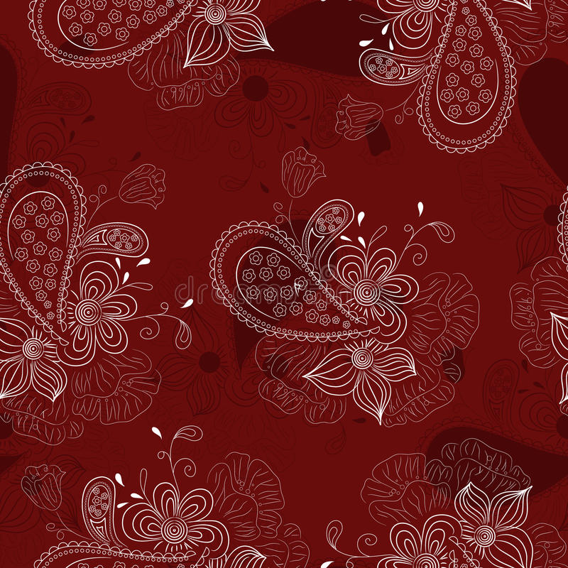 Estampado de flores vinoso ilustración del vector