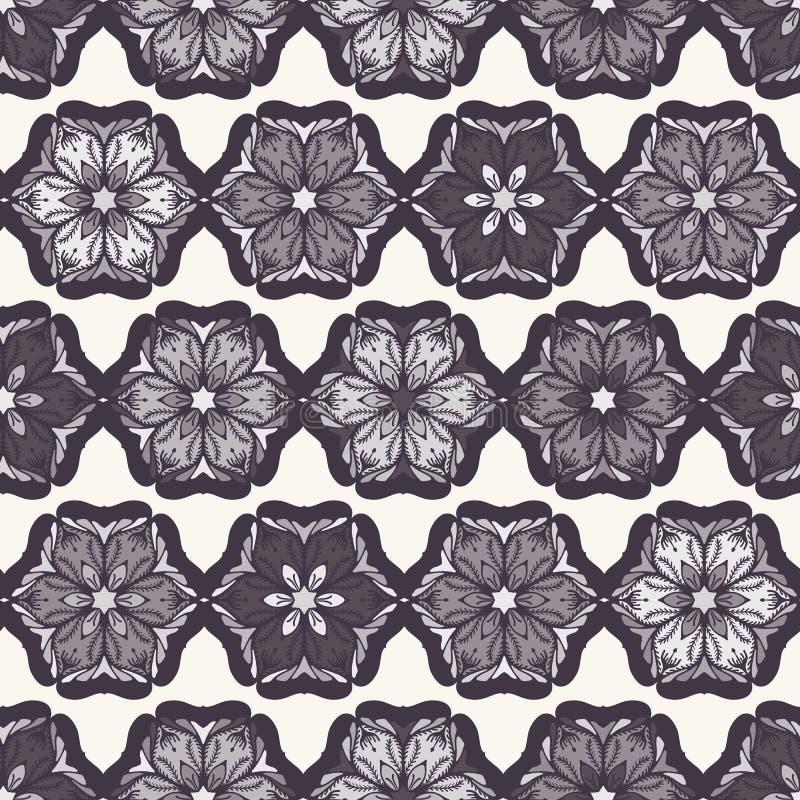 Estampado de plores abstracto exhausto de la Navidad de la mano Poinsetia estilizada floral Fondo blanco negro Vacaciones de invi libre illustration