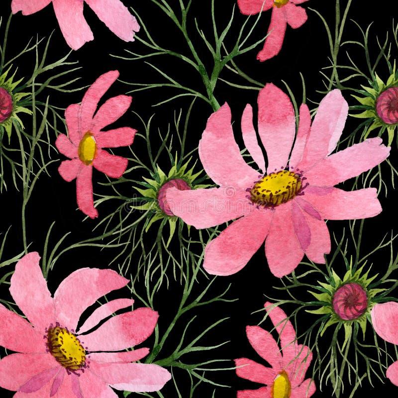 Download Estampado De Plores Del Kosmeya Del Wildflower En Un Estilo De La Acuarela Stock de ilustración - Ilustración de ilustración, caída: 100526617