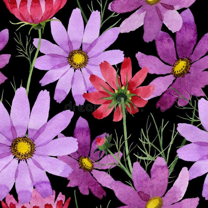Download Estampado De Plores Del Kosmeya Del Wildflower En Un Estilo De La Acuarela Stock de ilustración - Ilustración de botánico, flor: 100526681