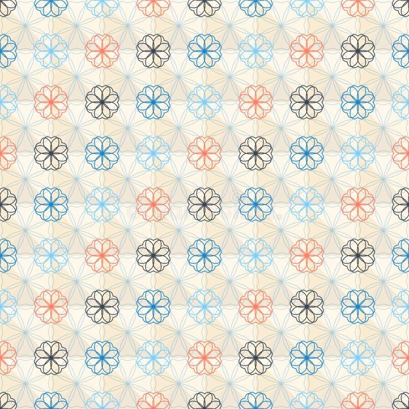 Estampado de plores geométrico inconsútil ilustración del vector