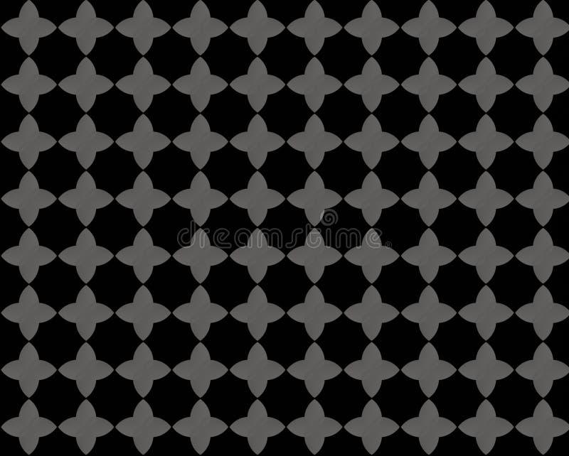 Estampado de plores gris negro imagen de archivo libre de regalías