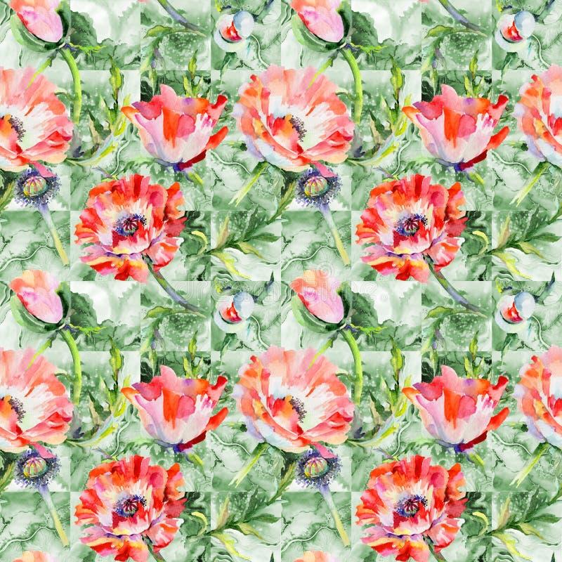 Download Estampado De Plores De La Amapola Del Wildflower En Un Estilo De La Acuarela Stock de ilustración - Ilustración de decoración, floral: 100527087