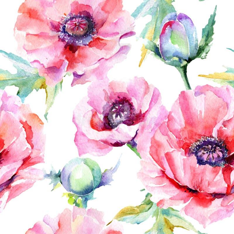 Download Estampado De Plores De La Amapola Del Wildflower En Un Estilo De La Acuarela Stock de ilustración - Ilustración de floral, gráfico: 100527272