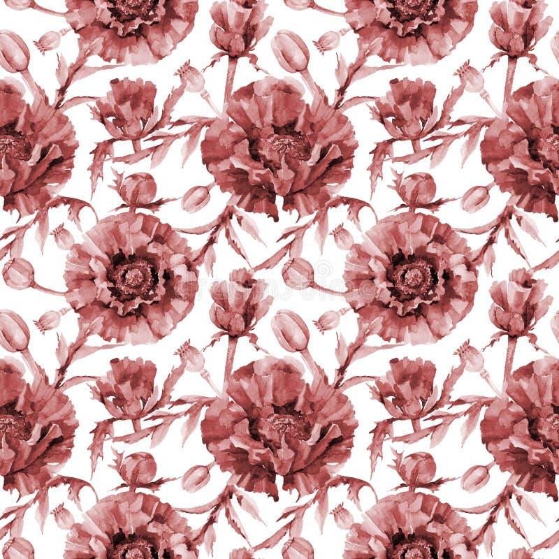 Download Estampado De Plores De La Amapola Del Wildflower En Un Estilo De La Acuarela Stock de ilustración - Ilustración de trazado, ornamento: 100527511