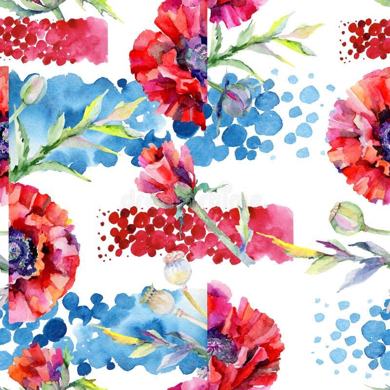 Download Estampado De Plores De La Amapola Del Wildflower En Un Estilo De La Acuarela Stock de ilustración - Ilustración de travieso, ilustración: 100527565