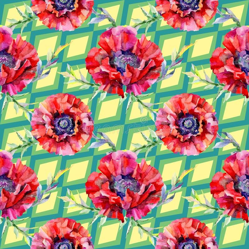 Download Estampado De Plores De La Amapola Del Wildflower En Un Estilo De La Acuarela Stock de ilustración - Ilustración de flor, licencia: 100527581