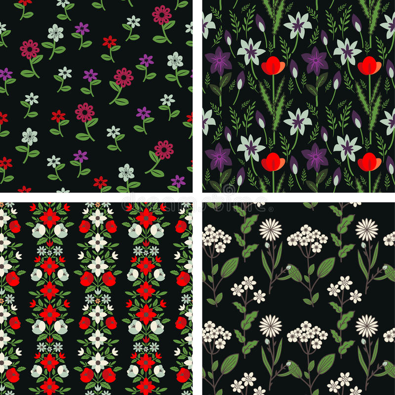 Estampados de flores ilustración del vector
