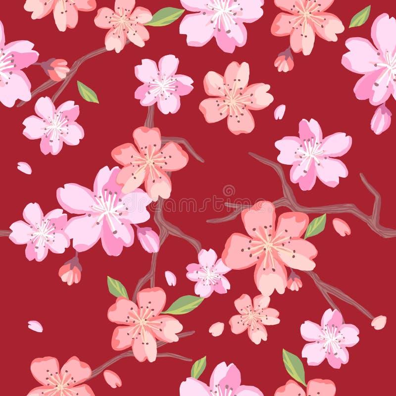 Estampados de flores hermosos en estilo japonés libre illustration