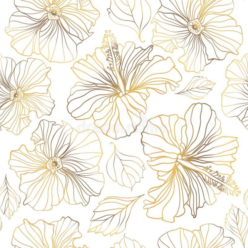 Estampados de flores inconsútiles del vector foto de archivo