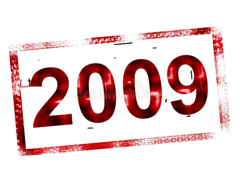 estampille 2009 illustration libre de droits