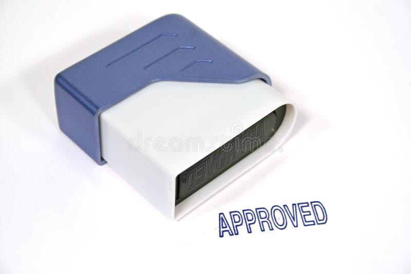 Estampille approuvée image stock