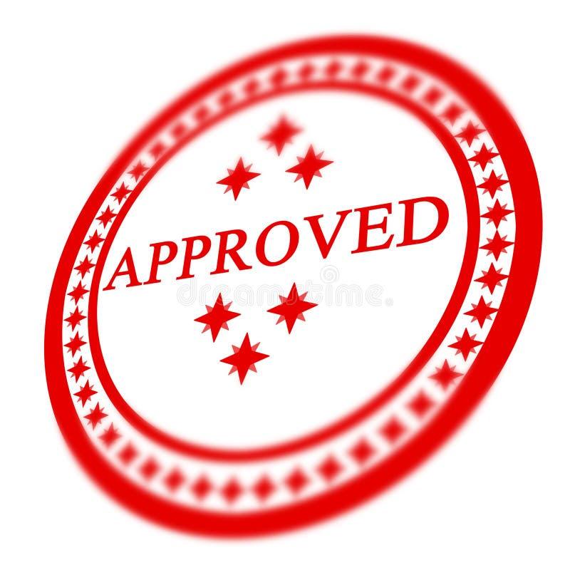 Estampille approuvée rouge illustration libre de droits