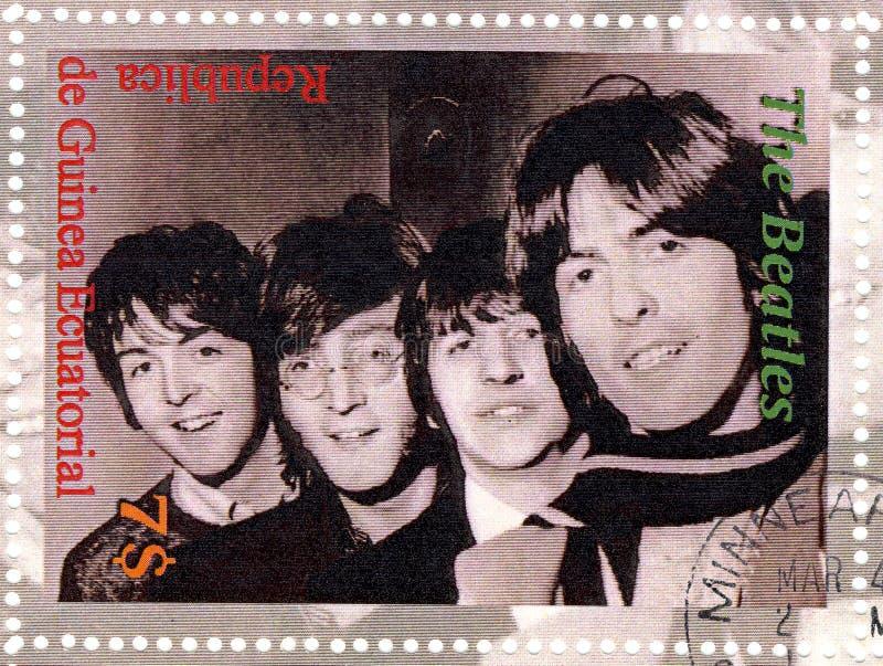 Estampille avec Beatles photos libres de droits