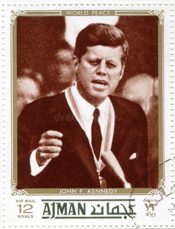 Estampille avec Kennedy photo stock
