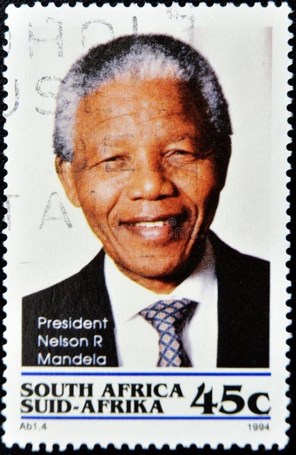 Estampille avec Nelson Mandela image libre de droits