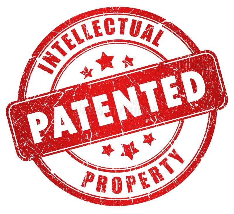 Estampille brevetée illustration stock