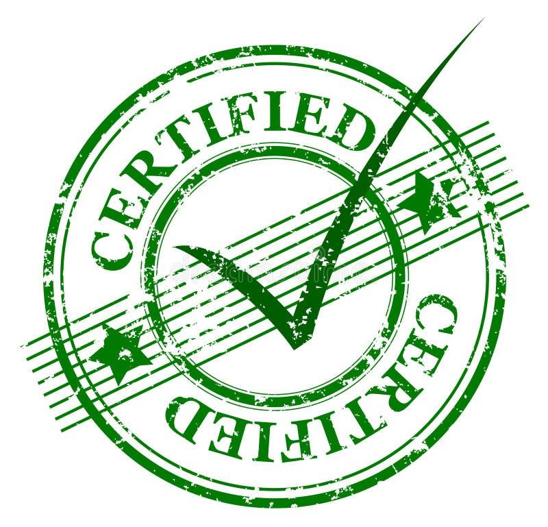 Estampille certifiée illustration stock