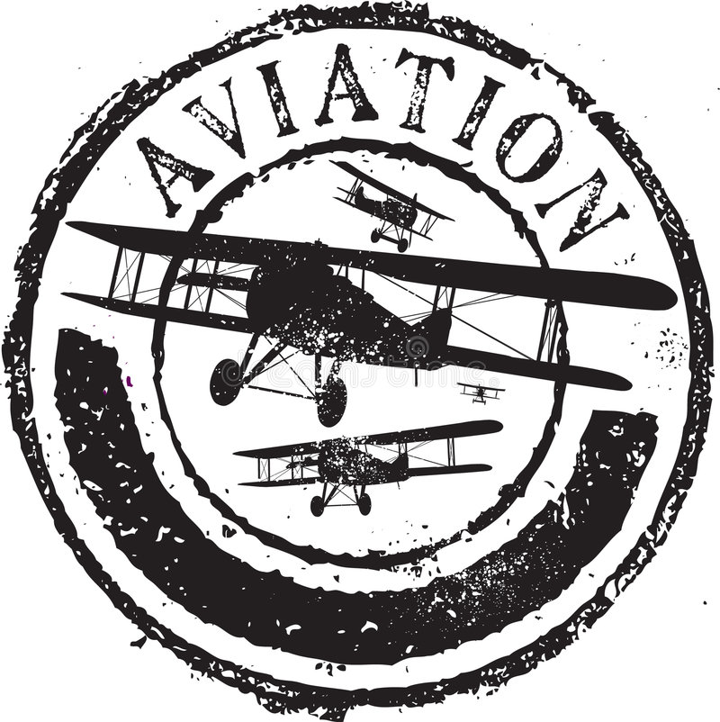 Estampille d'aviation illustration de vecteur