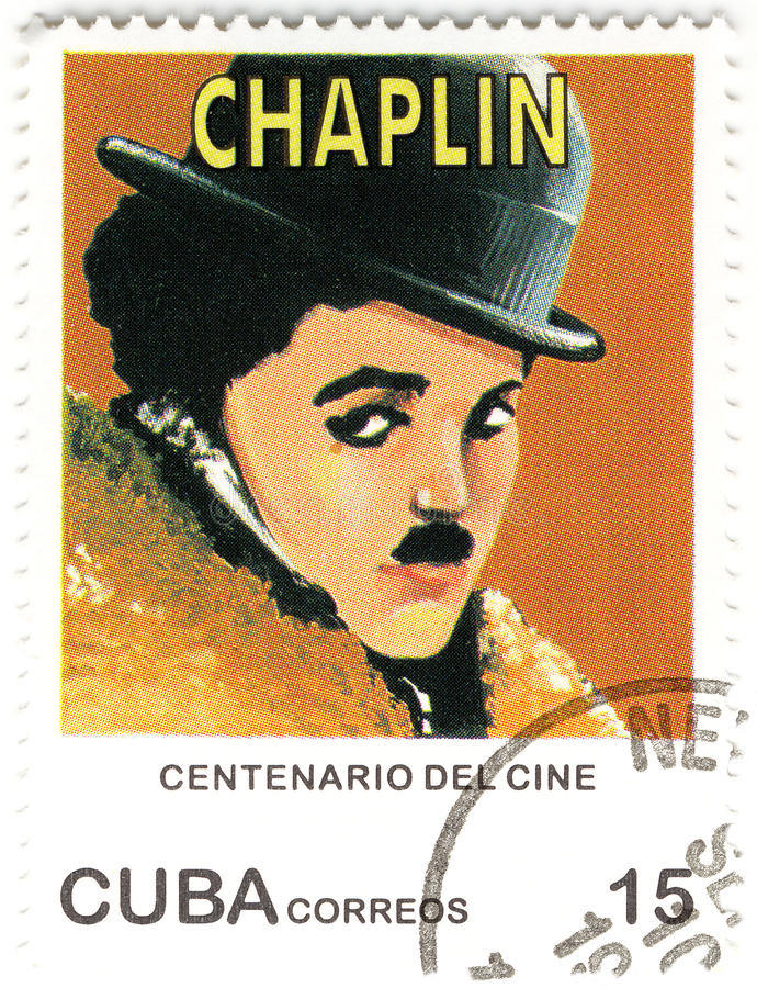estampille de chaplin Charles photos libres de droits