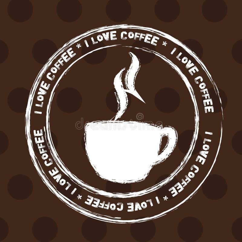 Estampille de cuvette de café illustration de vecteur