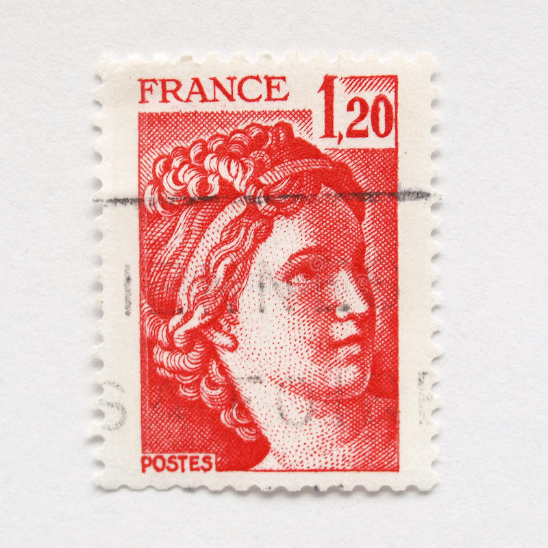 estampille de Français photos stock