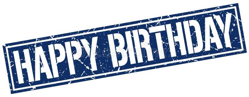 Estampille de joyeux anniversaire illustration libre de droits