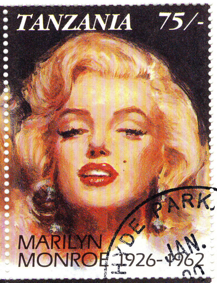 estampille de Marilyn Monroe photographie stock libre de droits