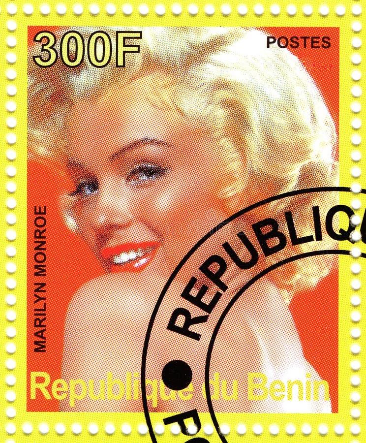 estampille de Marilyn Monroe photo stock