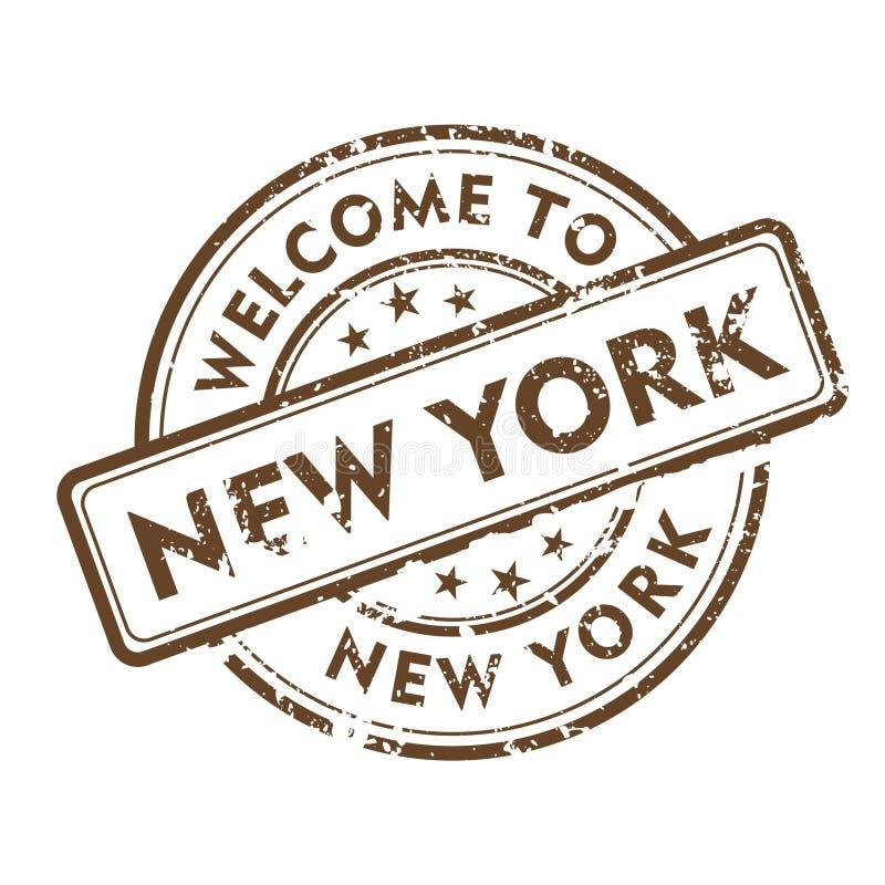Estampille de New York images libres de droits